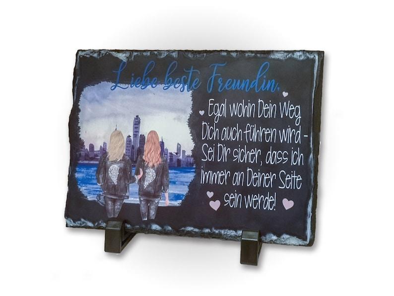 Slate Board Best Friend Decoration Plate Printed image 0