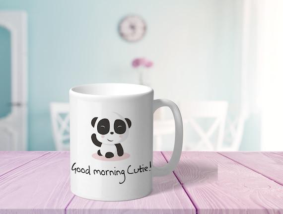 Panda Tasse Mit Spruch Guten Morgen Bedruckter Kaffeebecher Mit Bärchen