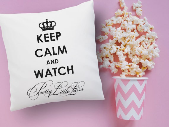Pretty little liars Pillow 16 black and