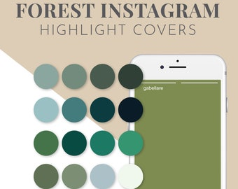 50 Green Icons for Instagram Highlight Covers