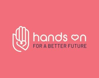 Hand Holding Heart Logo Design