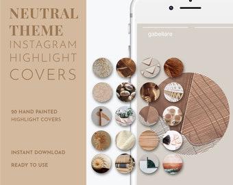 20 Neutral Themed Highlight Cover for Instagram