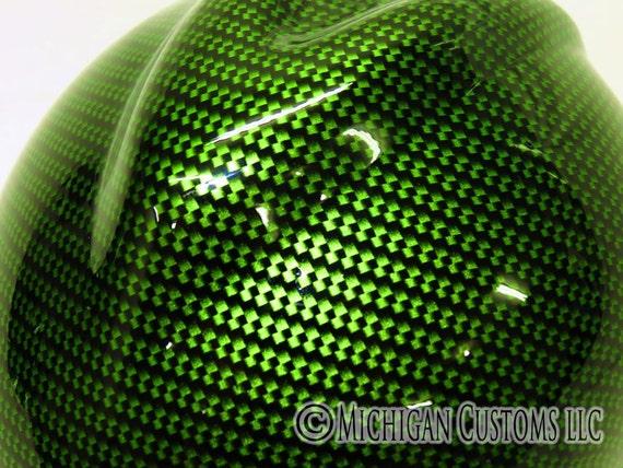 Green Carbon Fiber Graphic Custom Hard Hat Msa V Gard With Etsy