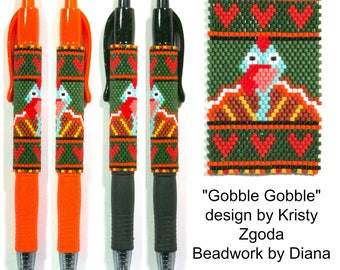 Gobble Gobble beaded pen