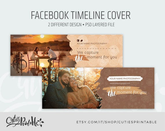 Facebook Cover Template For Photographers Facebook Timeline Etsy