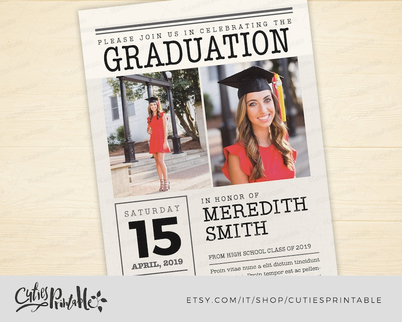 graduation announcement for newspaper