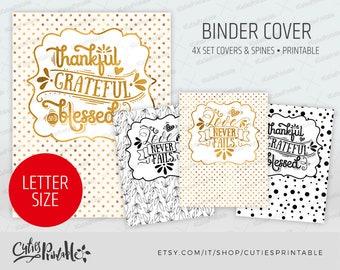 Binder cover printable 4x set Covers & Spines • Binder insert • Planner cover • Teacher binder • Quotes Binder Cover • Lettering Binder