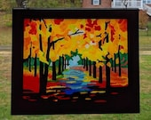 Fall Trees Suncatcher~ Su...