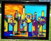 Abstract wine Decor~sunca...