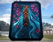 Tiger in Pond~suncatcher,...