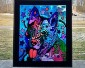 Abstract Husky Stained Gl...