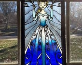 Frozen Elsa~ stained glas...