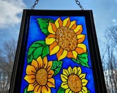 SUMMER SUNFLOWERS~stained...