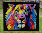 ABSTRACT LION SUNCATCHER~...