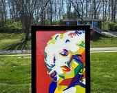Marilyn Monroe Stained Gl...