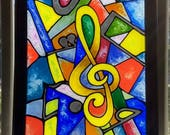 Abstract Music~ Stained g...