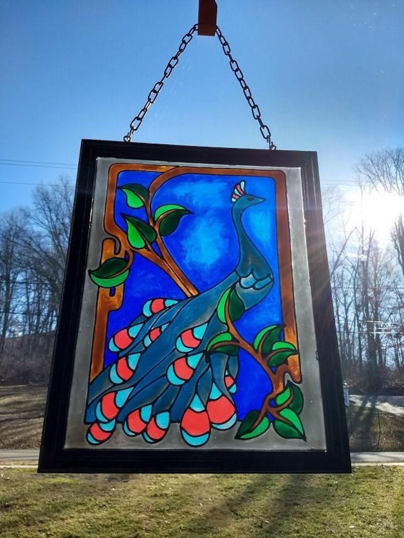 Bicycle Stained Glass Christmas Ornament or Window Sun Catcher Handmade Signed