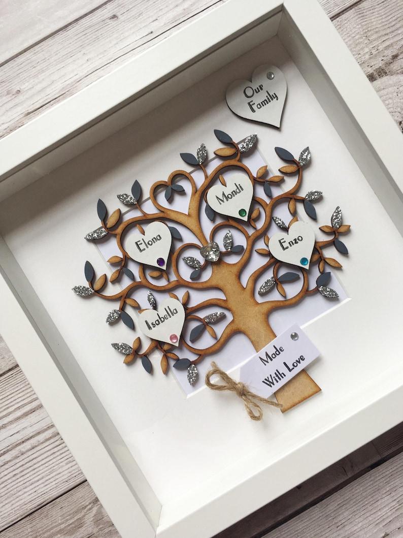 Personalised Family Tree Frame  Personalised Frame  Wedding image 0