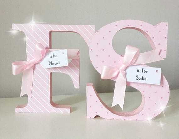 Decorated Wooden Letters Nursery Letters Name Letters