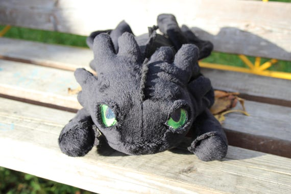 how to train your dragon toothless plush etsy