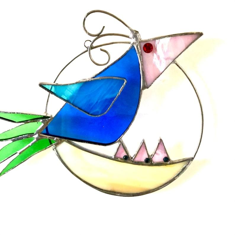 Window Ornament Quirky QUIRKY BIRD FAMILY Bird/'s Nest Suncatcher Bird Watcher Gift Housewarming Nursery Window Bird Family