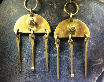 Vintage – Sarie Marais -  Brass - Earrings