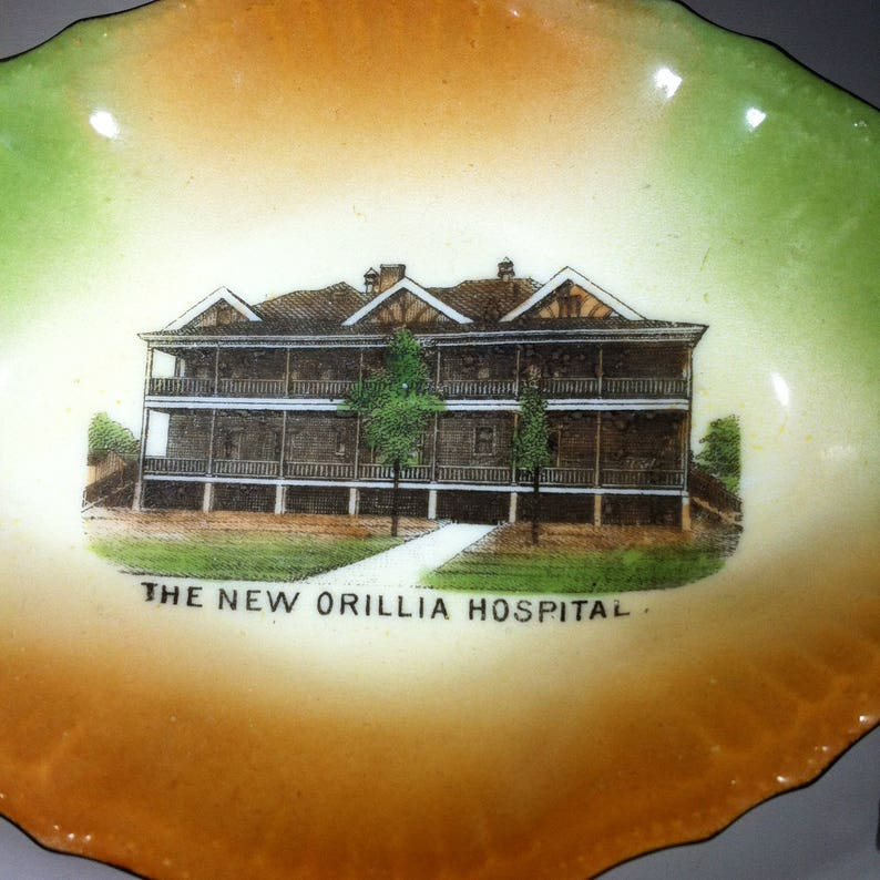 1908 Orillia Hospital Antique Commemorative Candy Dish
