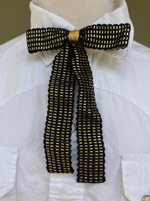 Vintage 1950's Gold and Black long fancy western b