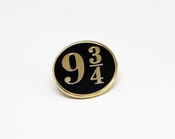 Nine and Three-Quarters (Black & Gold) - Hard  Enamel Pin