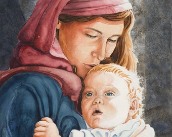 Mother and Child fine art print, 8 x 11 inches