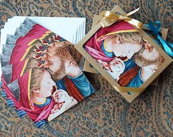 Nativity Art Cards Set, 5.5 x 4.25