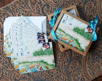 Los Peces En El Rio Art Cards Set, 5.5 x 4.25