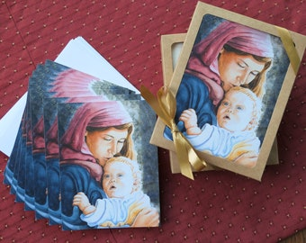 Mother and Child art cards