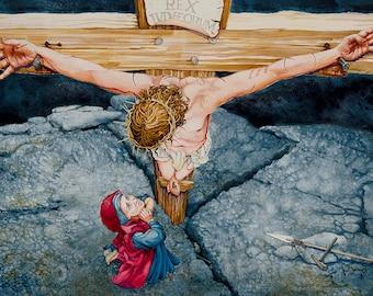 Axis Mundi (Crucifixion) fine art print, 8 x 11 inches