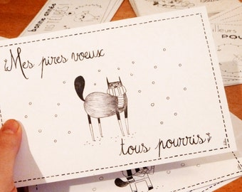 staggered greeting cards