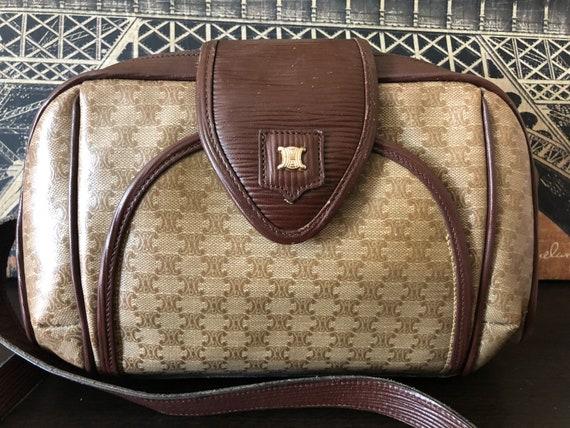 d0183215b256 Celine Macadam Italy Monogram Vintage Crossbody Shoulder Bag