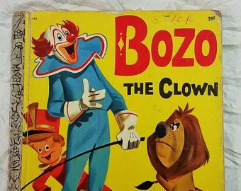 "Vintage Little Golden Book  ""Bozo The Clown"" 1969 C edition, Buettner & Satterfield"