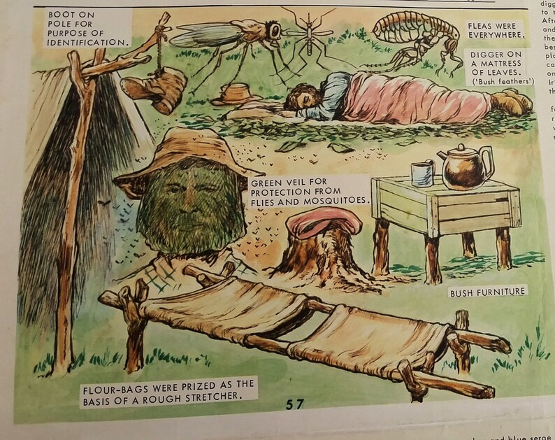 Vintage School Wall Charts, 1850's Victorian Gold Rush Set of 4 Color  Pictorial