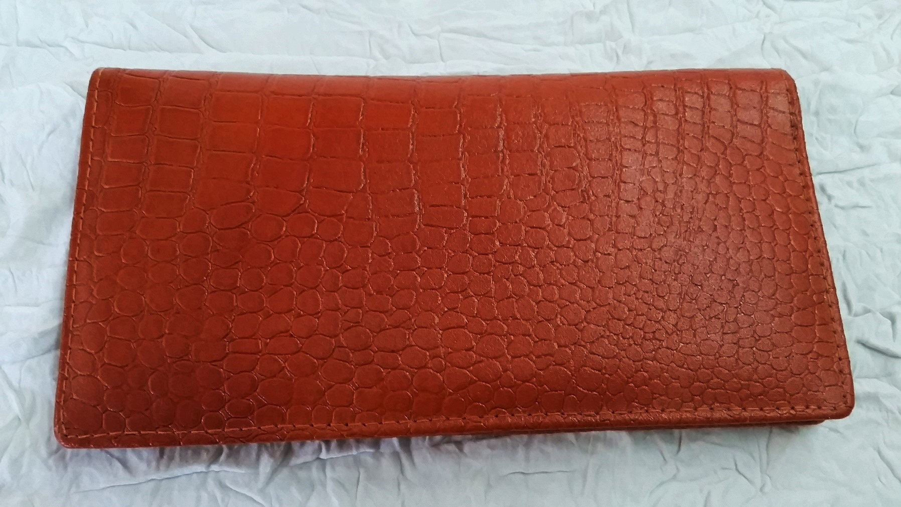 258db1596132 Designer Unisex Wallet, Amber Brown Hand Crafted Pebbled Leather