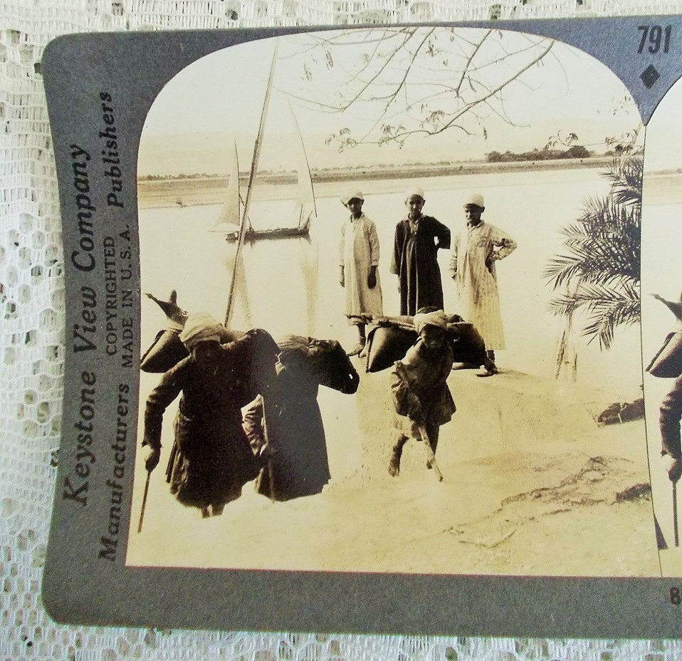 Keystone Stereoview 8648 Nile River Luxor, Egypt