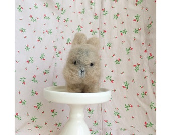 felted bunny - toast color