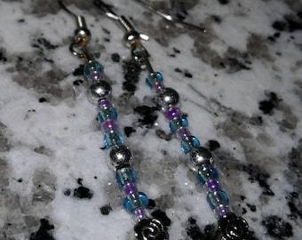 Dew Drop Flower Earrings