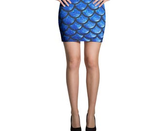 Mermaid's Mystique Mini Skirt