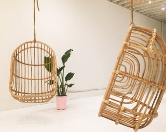 Nest Rattan Hanging Chair  Local Delivery Or Greyhound Shipping