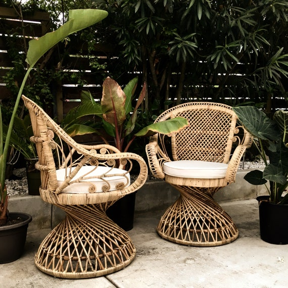 Flamingo Rattan Chair   LOCAL DELIVERY In Los Angeles/Pasadena ONLY: Please  Email For Shipping Inquiries