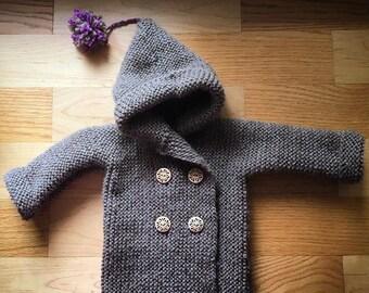 Knit Peacoat Sweater