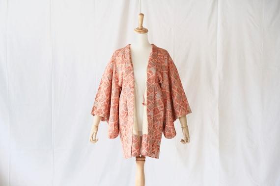 Vintage kimono jacket, Haori, Japanese Kimono /43… - image 2
