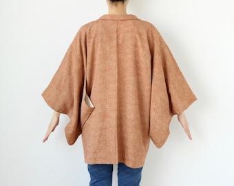 floral haori, Japanese silk kimono, Japanese kimono, kimono robe /3424