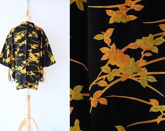 EXCELLENT condition/ Gorgeous kimono, floral kimono, Wedding kimono, Vintage kimono jacket, Haori, Japanese Kimono /4582