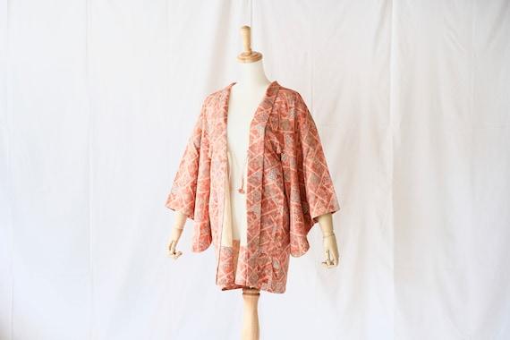 Vintage kimono jacket, Haori, Japanese Kimono /43… - image 3